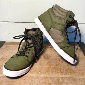 PLACE | Faux Leather Hi Top Sneakers | Size 2